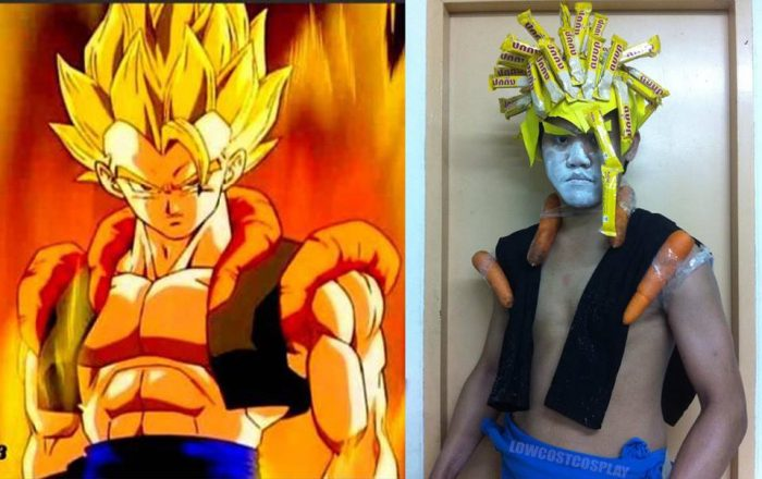 Nailed-it Meme Gogeta lookalike costume