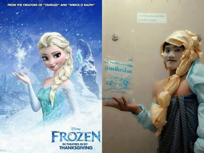 Nailed-it Meme Elsa from Frozen lookalike (FAIL)