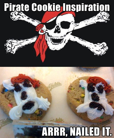 Nailed-it Meme pirate cookies