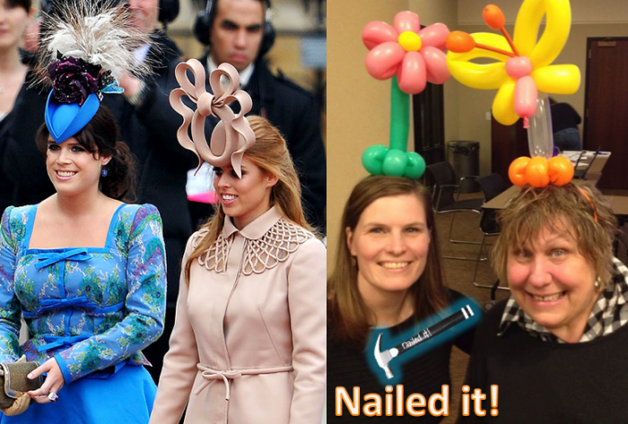 Nailed-it Meme balloon hats