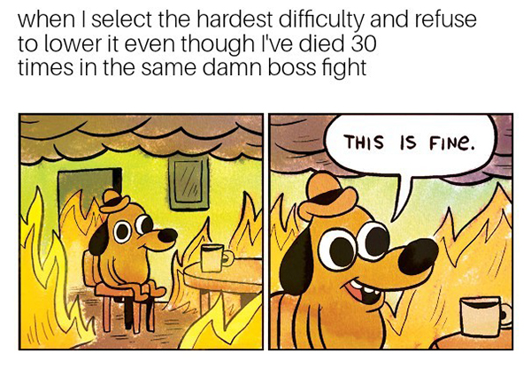 Best Video Game Memes - when I select hardest difficulty