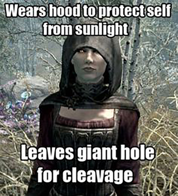 video game memes Wears hood to protect self from sunlight