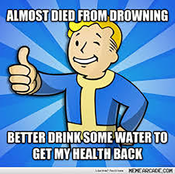 Funny Video Gamer Memes - almost died from drowning