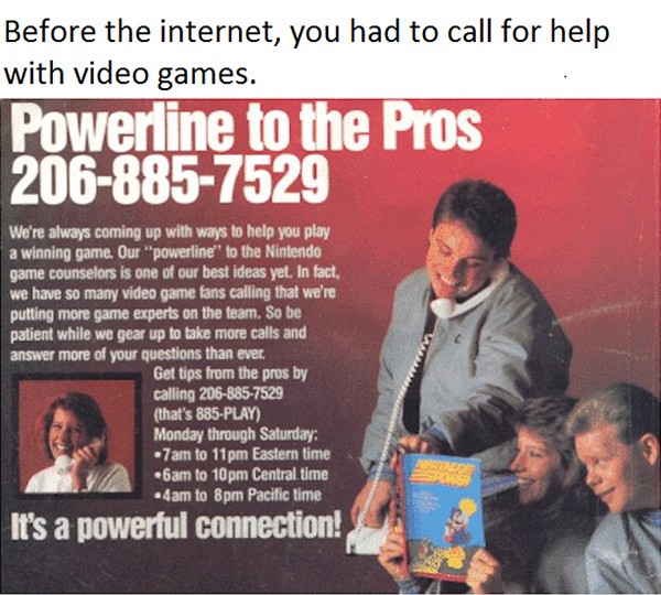 Funny Video Gamer Memes - before the internet powerline to the pros