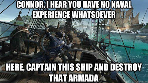 Hilarious Video Gaming Memes - captain this ship and destroy that amarda