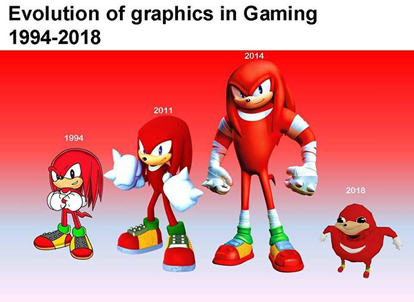 Hilarious Video Gaming Memes - evolution of graphics in gaming