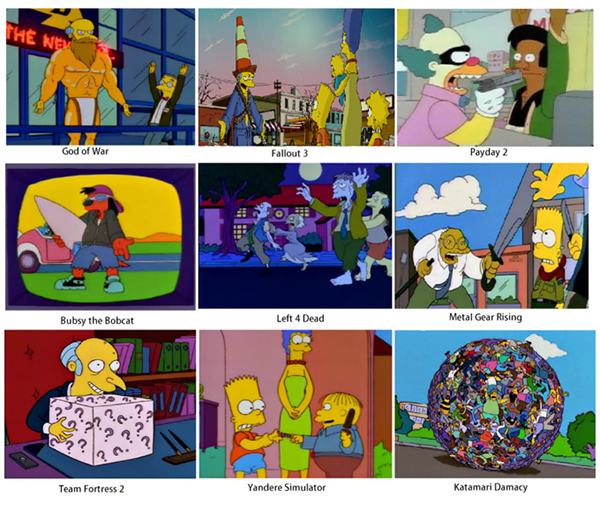 Best Video Game Memes - simpsons game titles