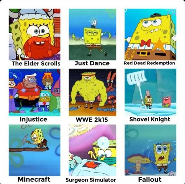Best Video Game Memes - squarepants does video games